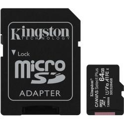 Cartão Memória Kingston Canvas Select Plus C10 A1 UHS-I microSDHC 64GB + Adaptador SD