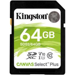 Cartão Memória Kingston Canvas Select Plus C10 U3 V30 UHS-I SDHC 64GB