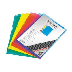 Dossier de Arquivo em L Transparente - Pack 100 unidades