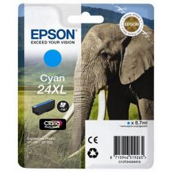 Tinteiro Epson 24 XL Azul Original Série Elefante (C13T24324010)