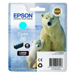 Tinteiro Epson 26 Azul Original Série Urso (C13T26124010)