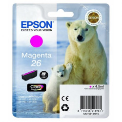 Tinteiro Epson 26 Magenta Original Série Urso (C13T26134010)