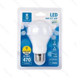 Lâmpada LED E27 6W 3000K Luz Quente A5 A60 Aigostar
