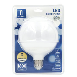 Lâmpada LED E27 20W 3000K Luz Quente 1600 Lúmens A5 G120 Aigostar