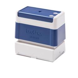 Suporte de carimbos azul. 6 carimbos de 34 x 58 mm PR3458E6P compatível Brother
