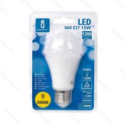 Lâmpada LED E27 15W 3000K Luz Quente A5 A60 Aigostar