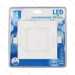 Placa Led Downlight Slim E6 12W 6000K 150-160mm Aigostar