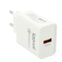 Carregador USB QC3.0 Quick Charge 18W