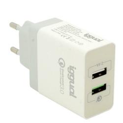 Carregador Duplo USB QC3.0 30W Quick Charge