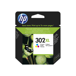 Tinteiro HP 302XL Tricolor Original (F6U67AE)