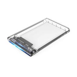 """Caixa Externa Slim Transparente Discos 2.5"""" Sata e SSD Coolbox"""