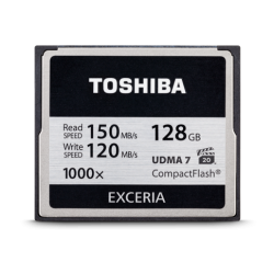 Toshiba Exceria Compact Flash 128GB - 1000x - 150mb/s  CF-128GTGI(8 - ONBIT