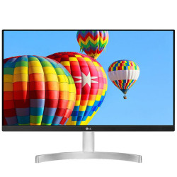 "Monitor LG 24"" 24MK600M-W IPS FHD 16:9 75Hz FreeSync Branco"