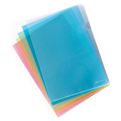 Bolsa de Arquivo em L ErichKrause - Pack 10 unidades cores sortidas