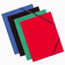 Pastas PP A4 c/ Elásticos ErichKrause - Pack 6 unidades cores sortidas