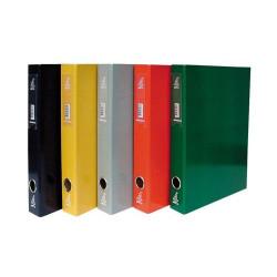 Pasta Arquivo 4Office Lombada Estreita Amarelo   - ONBIT