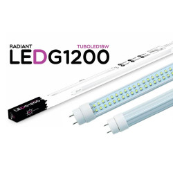 Tubo LED Integrado G1200 120CM 18W 6500K Luz Fria 1500 Lúmens Radiant LED