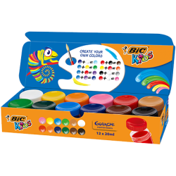 Guache BIC Kids 20ml 12 unidades