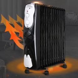 Radiador a Óleo Aigostar 2500W 13 Elementos com Ventilador Ar Quente