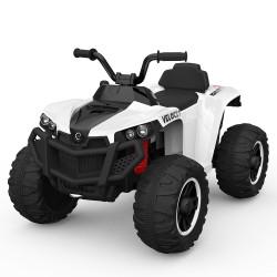 Moto 4 Elétrica ATV 4x2 Velocity Bateria 12v Branca (até 8 anos)
