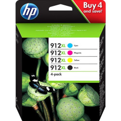 HP 912XL Combo Pack 4 Tinteiros Originais 3YP34AE