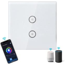 Interruptor de Luz Duplo Wifi Inteligente Aigostar App