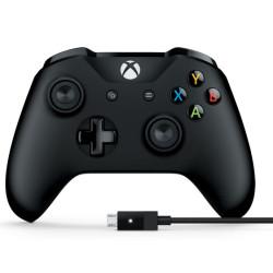 Comando Microsoft Xbox One Controller + Cable para PC