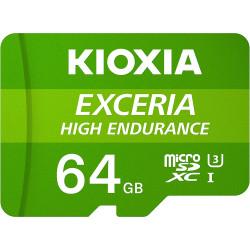 Cartão Memória Kioxia Exceria High Endurance C10 V10 A1 microSDHC UHS-I 64GB