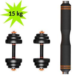 Kit Musculação Halteres + Barra  Xiaomi FED 15Kg