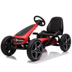 Kart de Pedais Mercedes Benz Vermelho