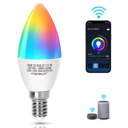 Lâmpada Smart LED WiFi RGB+CW E14 C37 5W Aigostar