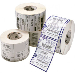 Etiquetas Compativeis ZEBRA - 101.5mm x 76.2mm 500un Papel térmico Perfuradas