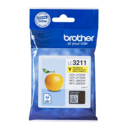 Tinteiro Brother Original LC3211Y Amarelo