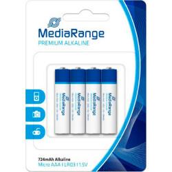 Pilhas Mediarange Alcalinas LR3 (AAA) - Pack 4