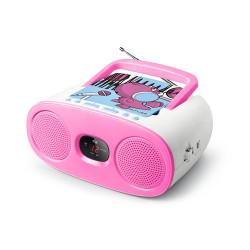 Rádio FM c/ Leitor CD Muse Kids M-20 KDB Rosa