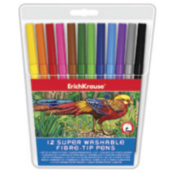 Marcador de feltro tipo pincel ErichKrause - Pack 12 cores  EK 37072 - ONBIT