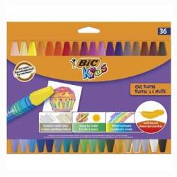 Lápis Pastel a Óleo BIC Kids 36 unidades