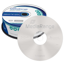 DVD+R Dual Layer 8.5GB MediaRange 8X - Pack 25   - ONBIT