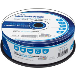 BD-R 50GB 6X Mediarange Printable BLU-RAY - Pack 25