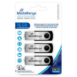 Mediarange Pendrive 16GB - Pack 3 unidades