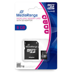Cartão Mediarange Micro SD HC 8GB - Class 10 - 15mb/s