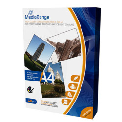 Papel Fotográfico Dupla Face A4 140g Mate MediaRange (100 folhas)