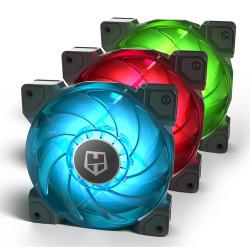 Pack 3 Ventoinhas 120mm Nox Hummer H-Sync RGB