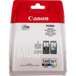 Conjunto 2 Tinteiros Canon PG-560 / CL-561 Original (3713C005)
