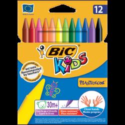 Lápis de Cera BIC Kids Plastidecor 12 Cores