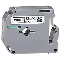 Fita Laminada Compatível Brother MK231BZ - 12mm x 4 metros Preto/Branco