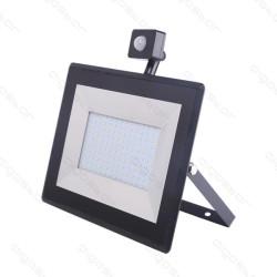 Foco Projector LED 100W c/ Sensor Movimento 4000K Luz Natural 10000 Lúmens IP65 Aigostar