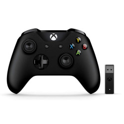 Comando Microsoft Xbox One Comando para PC + Wireless Adaptador