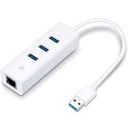 Adaptador TP-Link 3x USB 3.0 p/ Gigabit Ethernet RJ45 UE330