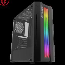 Caixa ATX Fantech Strike CG72 RGB Preta